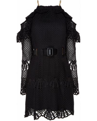 Платье мини коктейльное с открытыми плечами Self-portrait