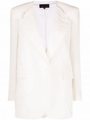 Шерстяной пиджак - белый Comme Des Garçons