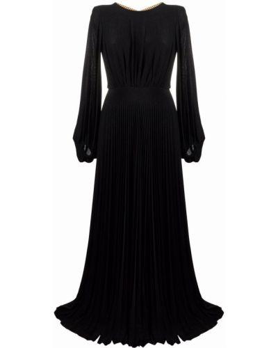Плиссированное платье - черное Elisabetta Franchi