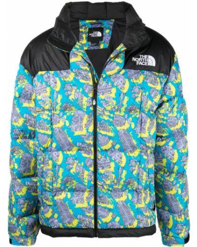 Синяя куртка на молнии с вышивкой The North Face