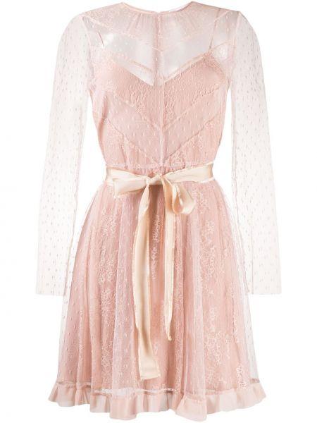 Платье макси розовое из фатина Red Valentino