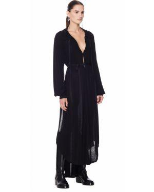 Платье мини с поясом из вискозы Ann Demeulemeester