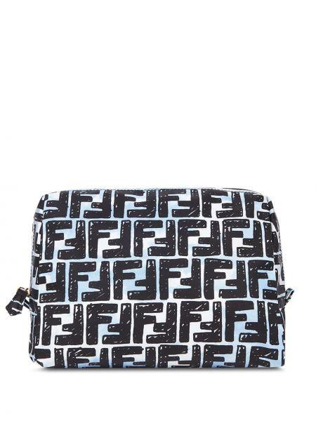 Bawełna czarny torba z logo trapez Fendi
