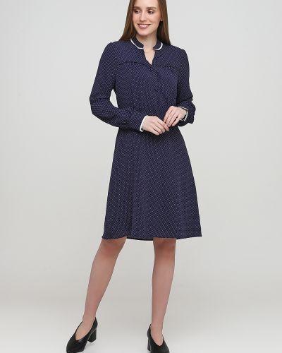 Синее платье макси на пуговицах с манжетами Kookai