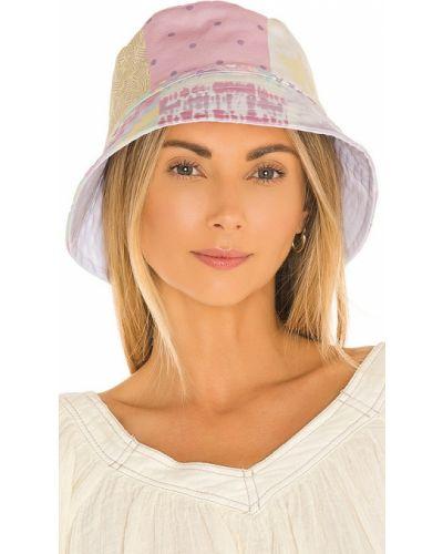 Хлопковая фиолетовая шапка пэчворк Olivia Rubin
