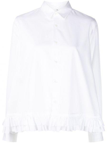 Хлопковая блузка - белая Comme Des Garçons Noir Kei Ninomiya