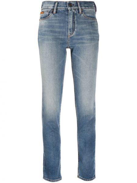Ватные хлопковые синие джинсы классические стрейч Ralph Lauren