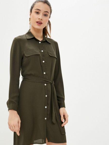Платье платье-рубашка зеленый Perfect J