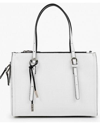 Белая сумка с ручками из натуральной кожи Eleganzza