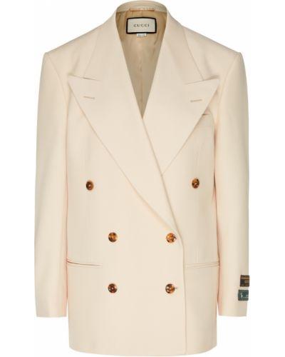 Пиджак шерстяной двубортный Gucci