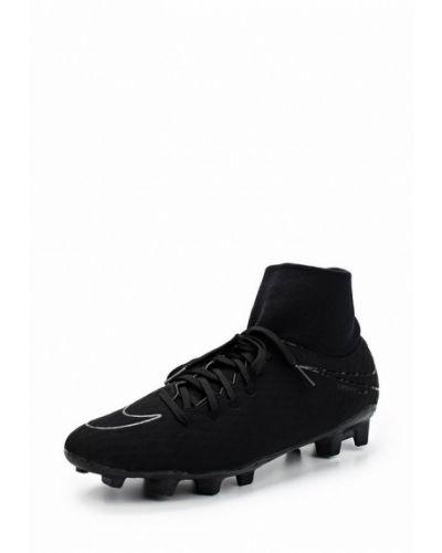 Черные бутсы Nike