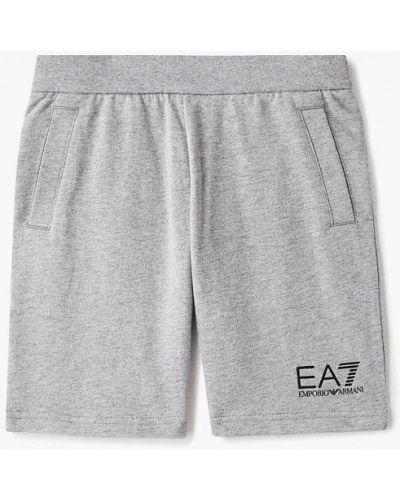 Шорты спортивные серые Ea7