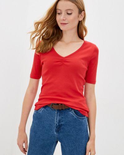 Красная с рукавами футболка Q/s Designed By