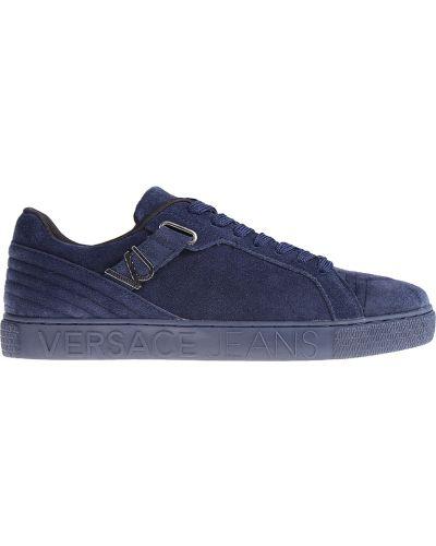 Кеды замшевые синий Versace Jeans