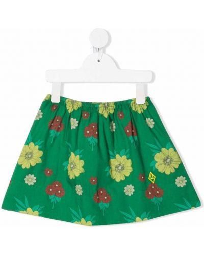 Zielona spódnica rozkloszowana w kwiaty The Animals Observatory