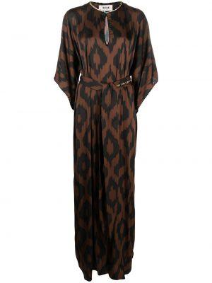 С рукавами черное платье макси из вискозы Bazar Deluxe