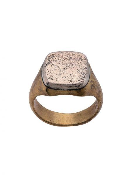 Złoty pierścionek John Varvatos