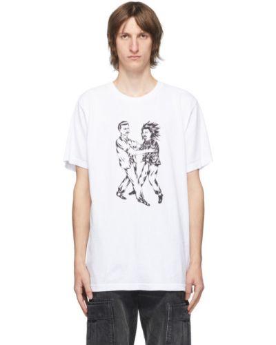 Хлопковая с рукавами черная рубашка с короткими рукавами с воротником Wacko Maria