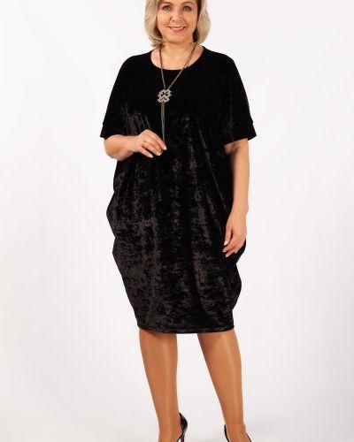 Бархатное с рукавами вечернее платье с открытой спиной милада