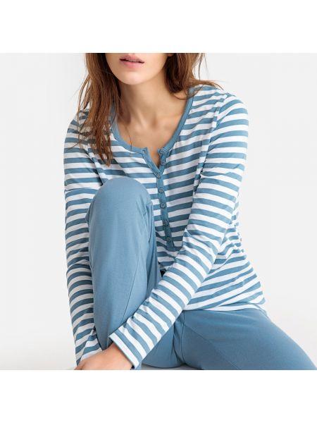 Пижама с брюками в полоску с длинными рукавами La Redoute Collections
