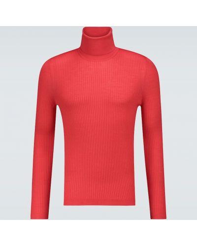 Красный шерстяной свитер Gucci