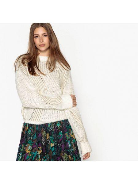Черный акриловый пуловер круглый с круглым вырезом See U Soon