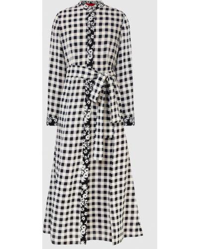Платье миди в клетку - серое Max & Co