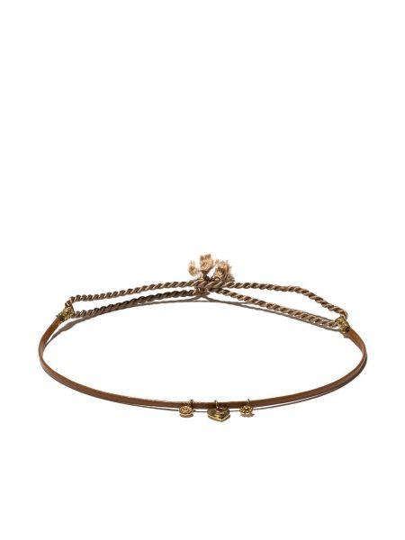 Skórzany bransoletka ze złota z diamentem 5 Octobre