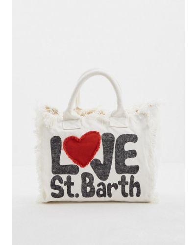 Белая пляжная сумка Mc2 Saint Barth
