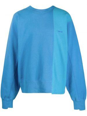Niebieski bluza z długimi rękawami z haftem z mankietami Ambush