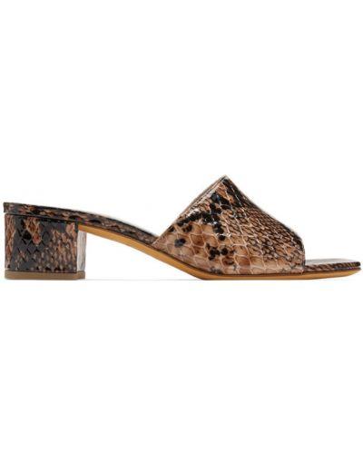Czarne sandały skorzane Maryam Nassir Zadeh