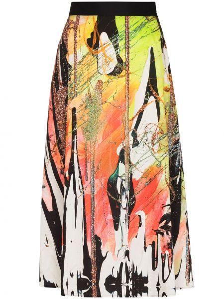 Spódnica bawełniana - zielona Christopher Kane