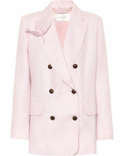 Теплый розовый пиджак Zimmermann