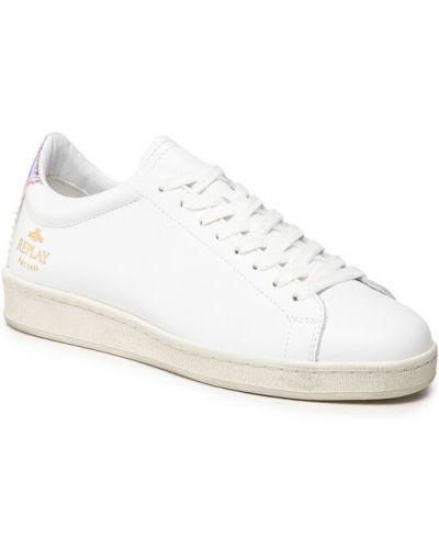 Białe sneakersy Replay
