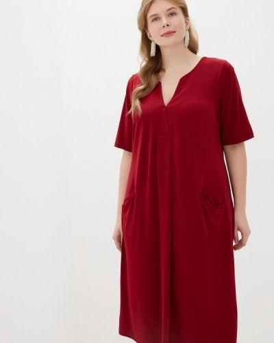 Повседневное платье бордовый красный Evans