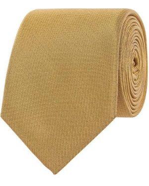 Klasyczny żółty krawat z jedwabiu Blick