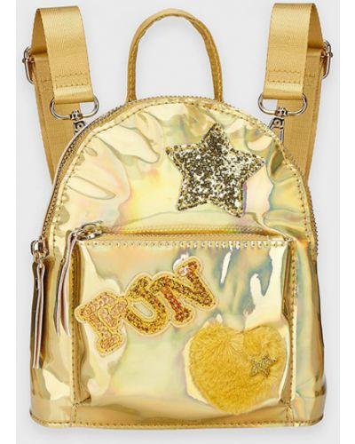 Рюкзак с карманами золотой с аппликациями Mayoral