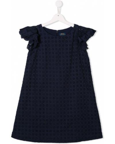 Платье с рукавами на молнии с принтом Ralph Lauren Kids