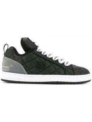 Черные кроссовки на каблуке на шнуровке с заплатками Maison Mihara Yasuhiro