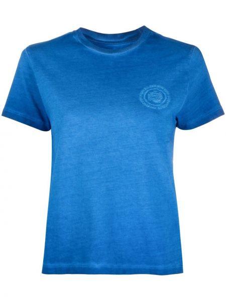Хлопковая синяя футболка с вышивкой Opening Ceremony