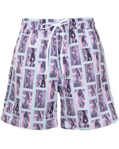Пляжные розовые плавки-боксеры с карманами Stampd