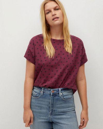 Розовая футболка с короткими рукавами Violeta By Mango