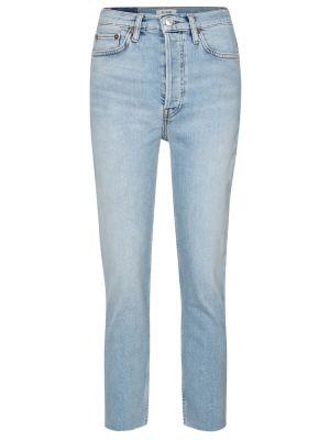 Bawełna bawełna niebieski jeansy zabytkowe Re/done