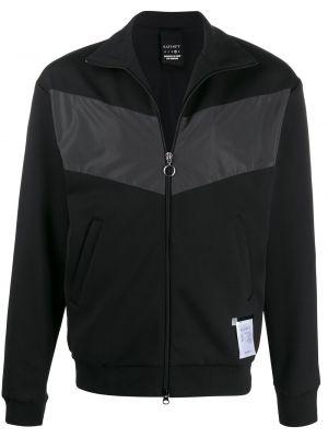 Klasyczna czarna długa kurtka z długimi rękawami Satisfy
