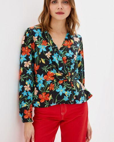 Блузка с длинным рукавом черная индийский United Colors Of Benetton
