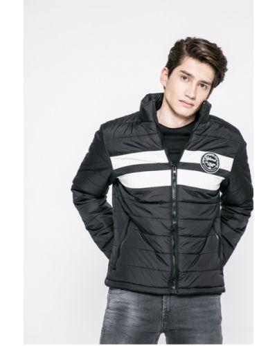 Стеганая куртка утепленная черная Casual Friday