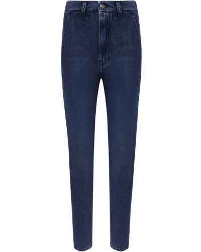 Укороченные джинсы с эффектом потертости синие Two Women In The World