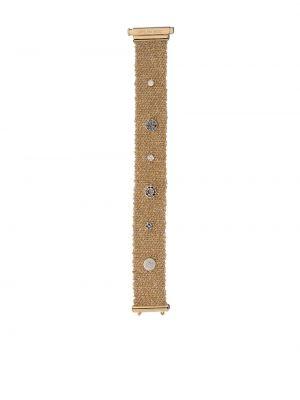 Золотистый черный золотой браслет с бриллиантом с заклепками Carolina Bucci