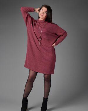 Платье из ангоры красный инсантрик