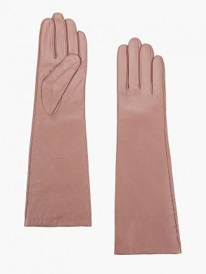 Розовые кожаные перчатки Eleganzza